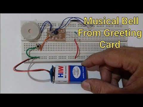 How to make musical bell at home |  Musical alarm circuit | musical bell project