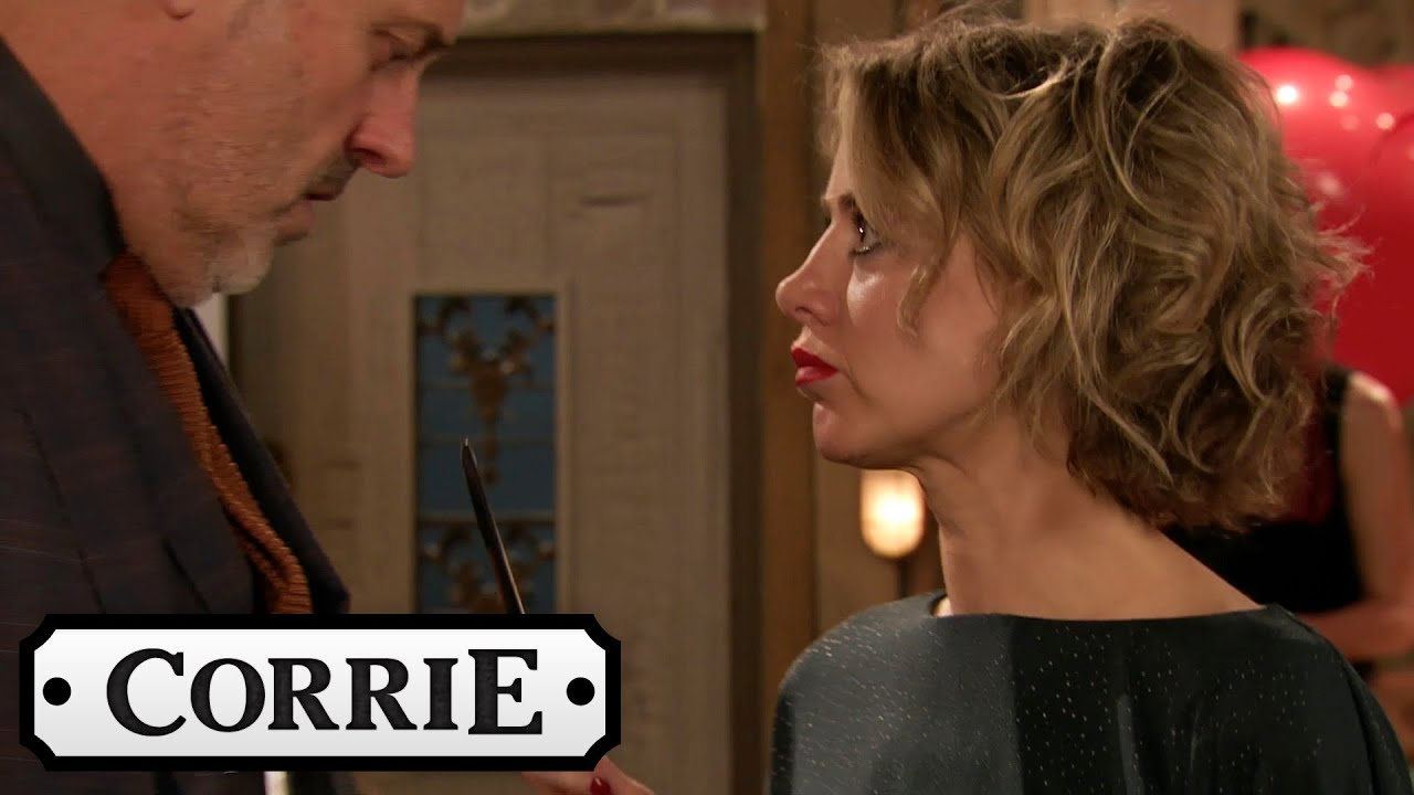 Abi Exposes Ray At The Bistro's Valentines Event | Coronation Street