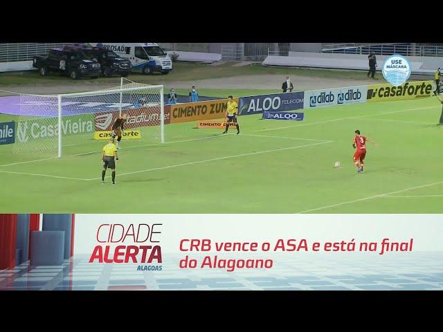Futebol: CRB vence o ASA e está na final do Alagoano