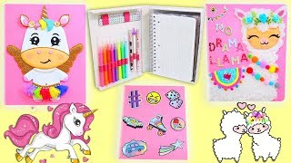 3 Organizer Designs with Pencil case and Notebook (Unicorn, Stickers and Alpaca) School Supplies
