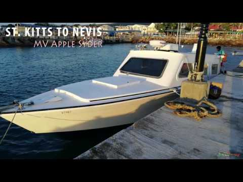 MV Apple Syder (Speed Boat) from St. Kitts to Nevis !!!!