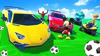 Funny Cars Cartoon for Kids. Street racing drivers   Street Vehicles For Kids