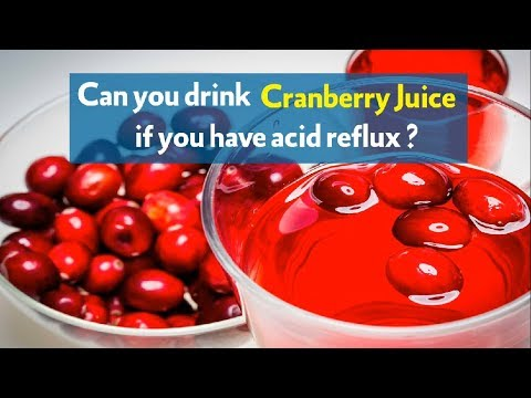 can cranberry juice give you acid reflux