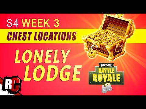 Fortnite Battle Royal | All LONELY LODGE Treasure Chest Locations Week 3 (Season 4 Challenges)