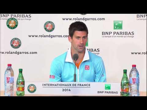Roland Garros 2014 Friday Interview Djokovic
