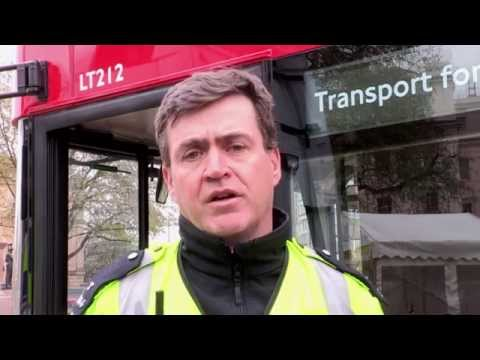 Cyclists Exchange places with Arriva London bus drivers