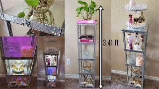 Dollar Tree DIY Mirrored Display Bookshelf with Lighting| DIY Elegant Room Decor Idea 2019