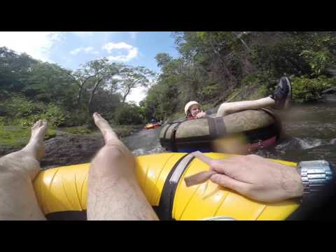 Danny and olga tubbing in Costa Rica 30 minute non stop water slide