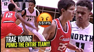 Trae Young PUNKS ENTIRE TEAM After Opposing Team Tried To Check Him!! INSANE High School Game!