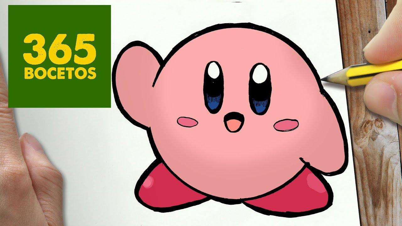 Como Dibujar Kirby Kawaii Paso A Paso Dibujos Kawaii Faciles How
