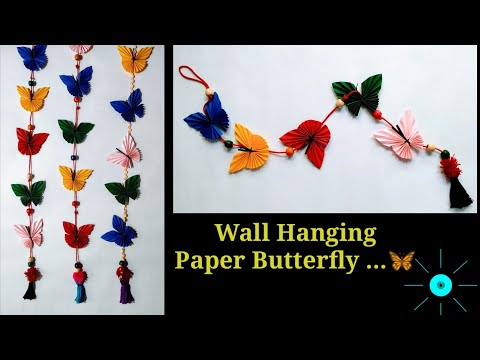 Paper butterfly wall decoration / wall hanging butterfly  