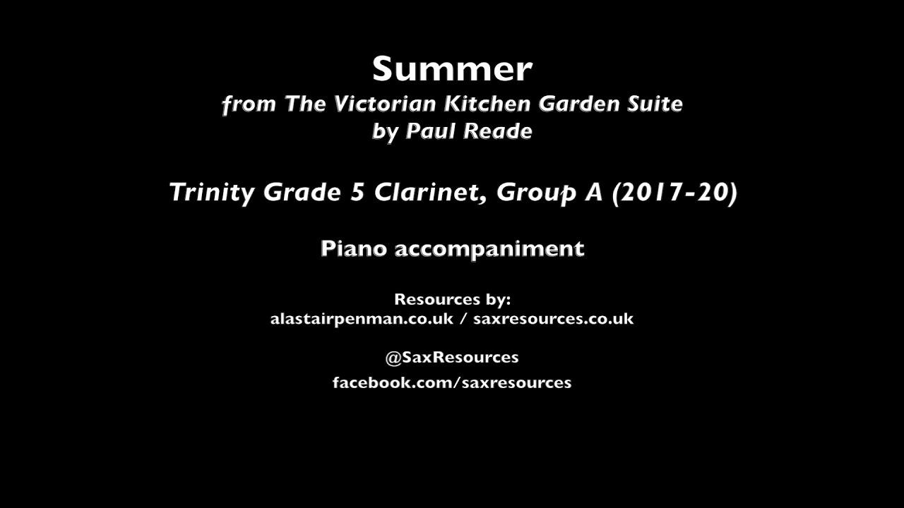 Victorian Kitchen Garden Suite Clarinet and Piano Paul Reade