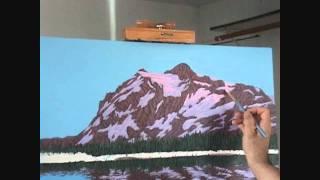 Видео 5 части 10, как рисовать горы и озеро с акрилом(Как рисовать горы и озеро с акрилом на холсте. В этом видео я объяснить каждый шаг живопись процесс скалы,..., 2011-08-27T09:03:36.000Z)