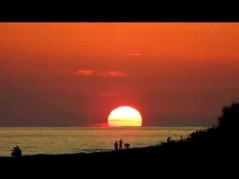 Закат солнца берег черного моря