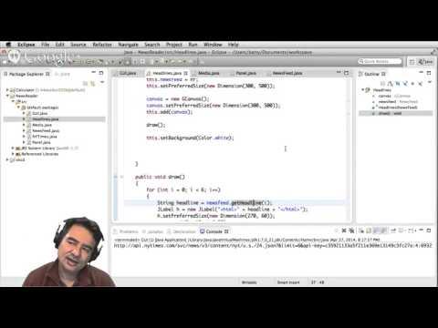 Live Stream: News Reader in Java