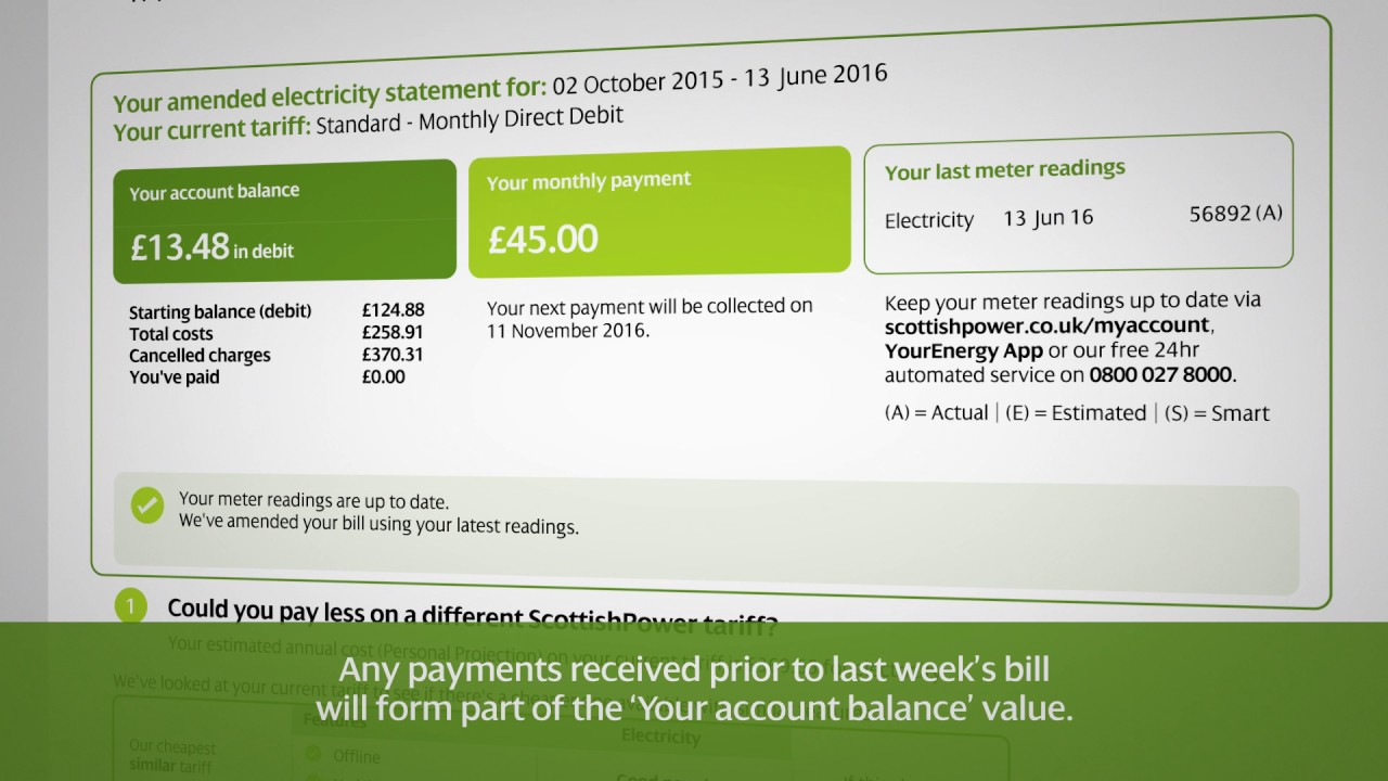 Questions about your bill - ScottishPower Community