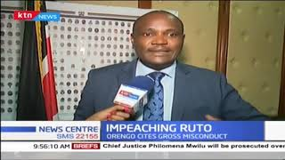 Ruto's Impeachment heads to parliament