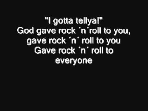 Kiss  God gave Rock ´n´ Roll to you II Lyrics