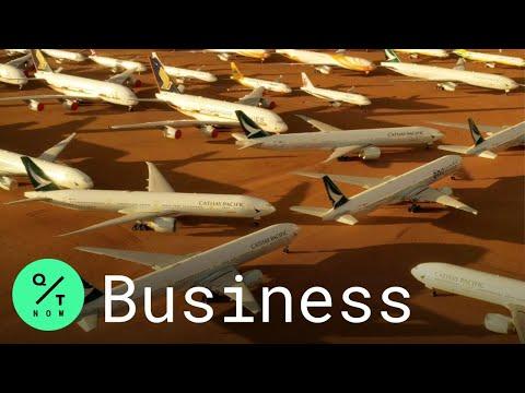 Coronavirus Pandemic Leaves 100+ Planes in Parking Lot Desert
