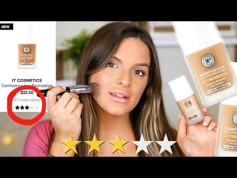 TESTING THE WORST RATED NEW FOUNDATION!? IT COSMETICS CONFIDENCE IN A FOUNDATION  | Casey Holmes