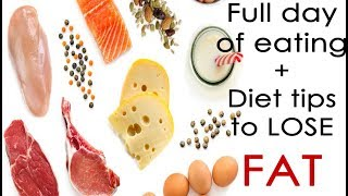 Full day of eating while cutting | Diet Tips to LOSE FAT
