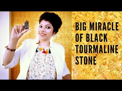 Big miracle of black tourmaline stone