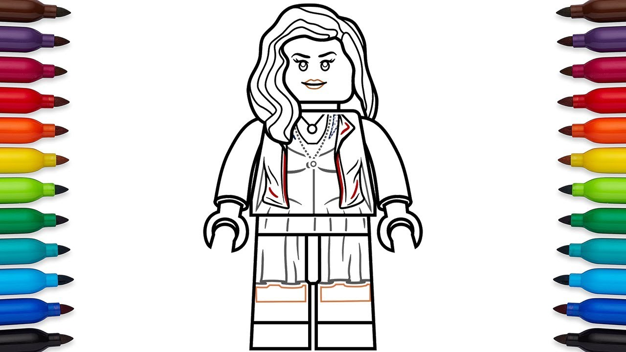 How to draw Lego Scarlet Witch