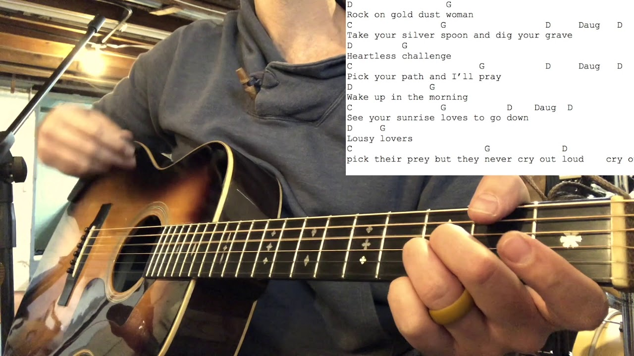 How To Play Fleetwood Mac Gold Dust Woman Rumours Acoustic Guitar