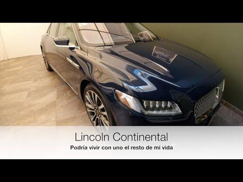Lincoln Continental. Podría vivir con este auto toda mi vida.
