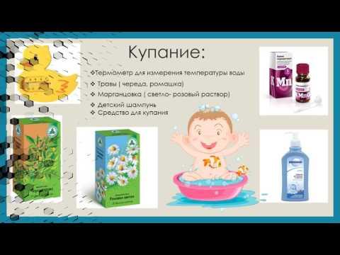 Первая аптечка для новорожденного малыша