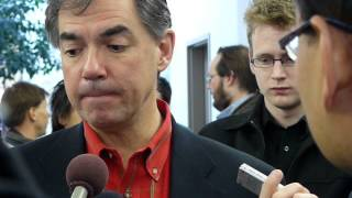Jim Prentice, Min. of Industry, @ Fair Copyright for Canada rally in Calgary - 2