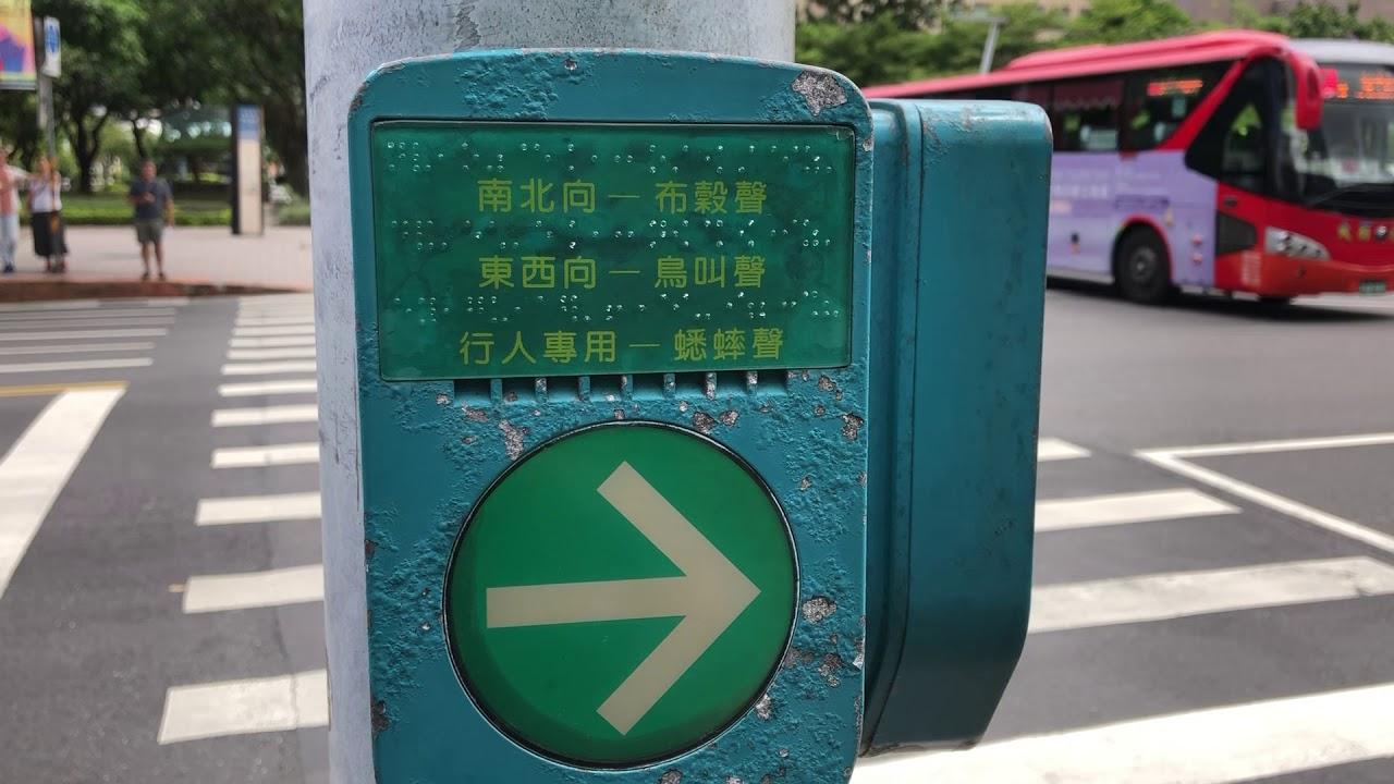 過馬路 盲人音響號誌 紅綠燈有聲號誌 - YouTube