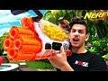 NERF WAR : WORLD'S BEST NERF GUN! (300 ROUND NERF MACHINE GUN)