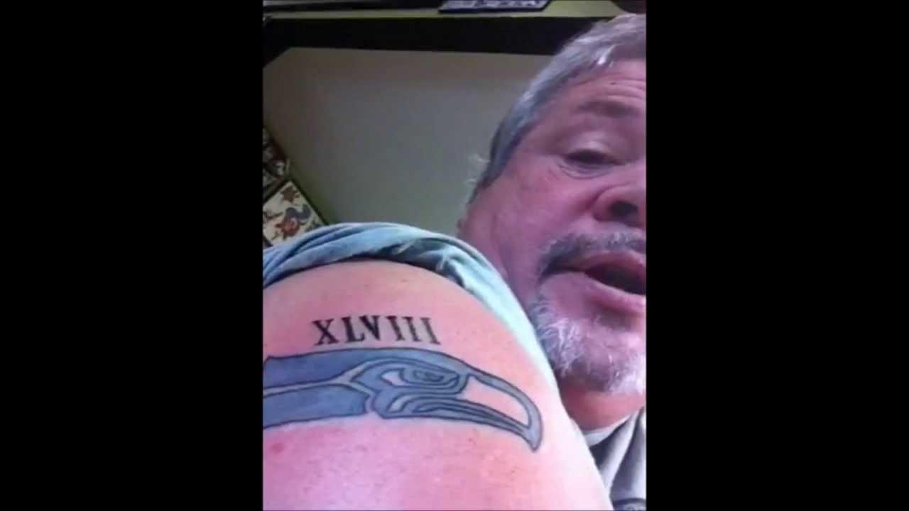 seahawk tattoo redo youtube