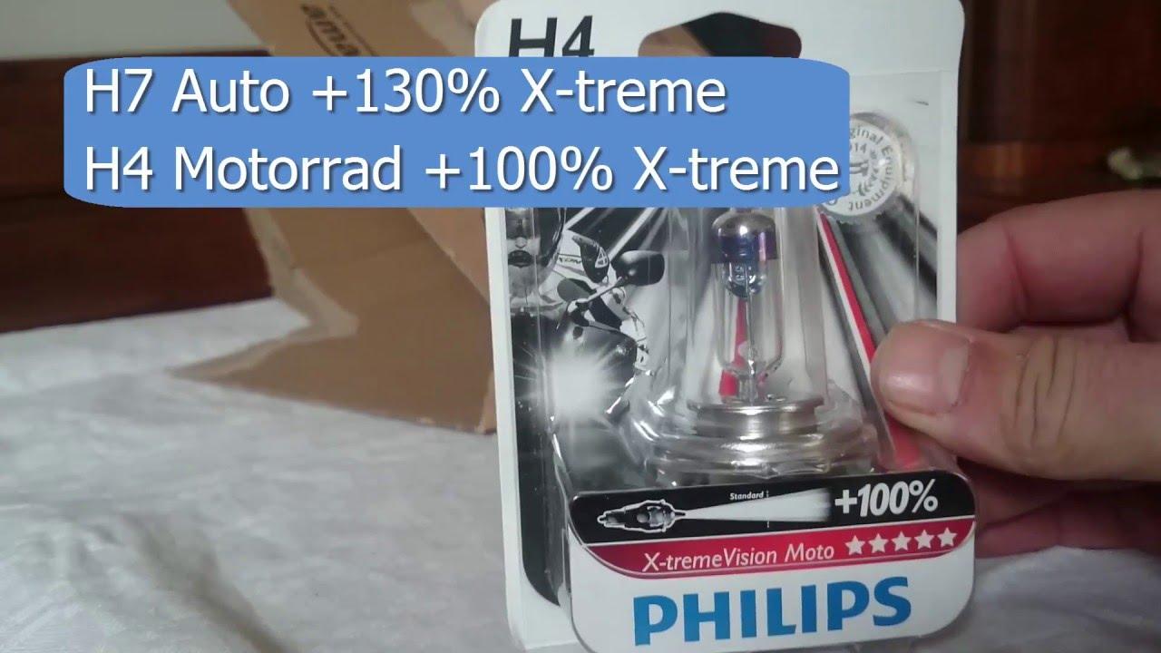h4 birne philips xtreme vision erfahrungsbericht test