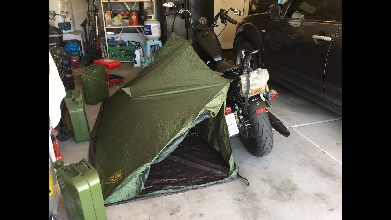 & Abel Brown Motorcycle Tent - YouTube