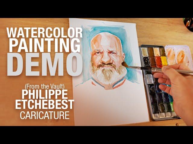 🎨 🔪 Demo Aquarelle - Archive - Philippe Etchebest Caricature