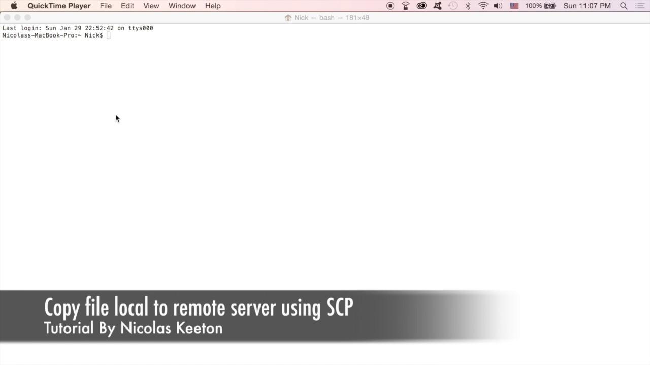 Copy file local to remote server - Linux / Ubuntu