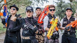 LTT Game Nerf War : Couple Warriors SEAL X Nerf Guns Fight Criminal Group Black Man Dangerous Bases