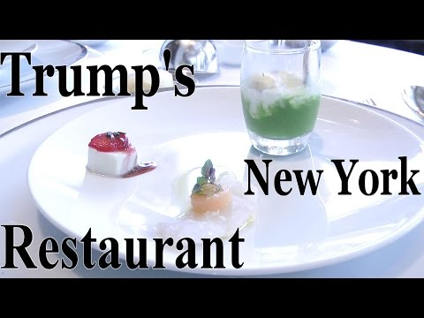Lunch at Trump's restaurant - Jean Georges new york - 3 Michelin Star experience