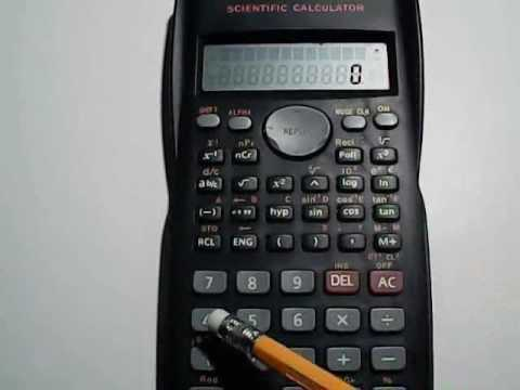 Linear Regression using a calculator (Casio fx-991Ms)