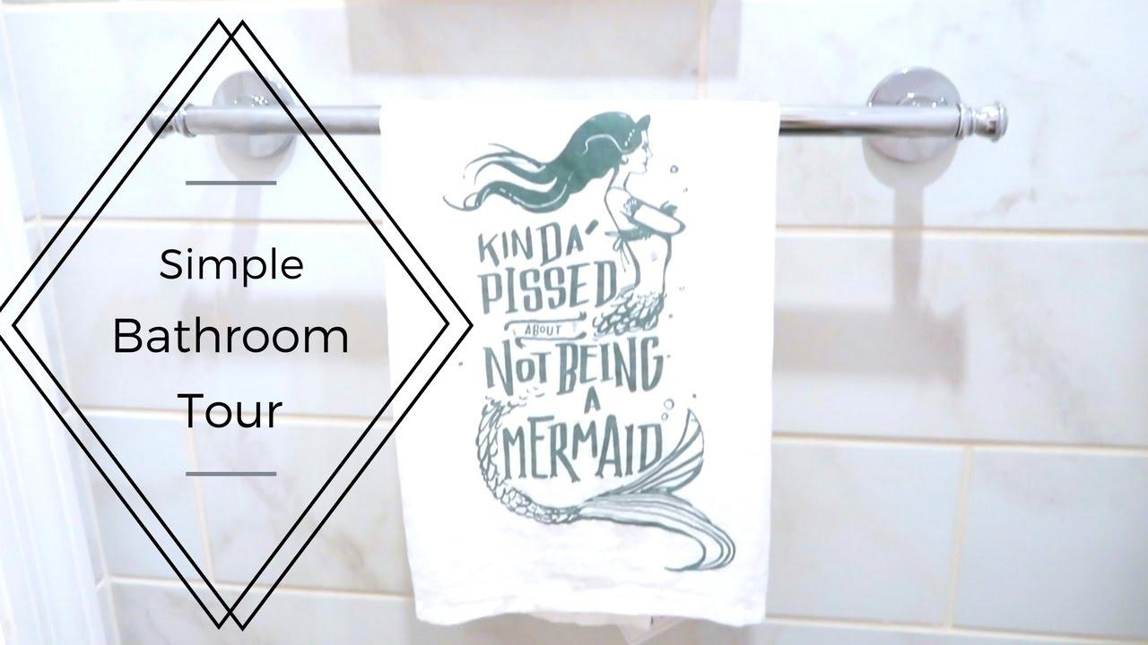 minimalist bathroom tour | 2017 - youtube