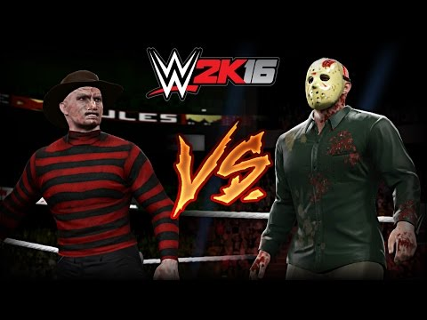 WWE 2K16 - Freddy VS Jason (Extreme Rules Match)