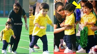 Aw! Taimur Ali Khan crying in front of mom Kareena when he lost race at Sports Day