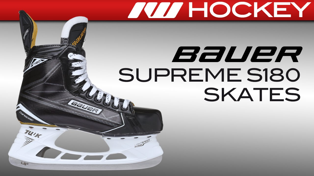 Bauer Supreme S180 Skate Review - YouTube