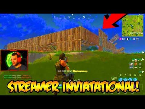 FORTNITE STREAMERS ONLY INVITATIONAL 50 vs 50 GAMEPLAY!!! (Fortnite Battle Royale)