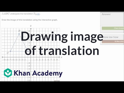 Drawing Image Of Translation | Transformations | Geometry | Khan Academy
