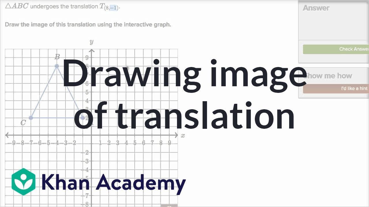 Translating Shapes Video Translations Khan Academy