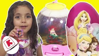 GIANT Princess Surprise Egg and Snow Globe - Princesses In Real Life | WildBrain Kiddyzuzaa