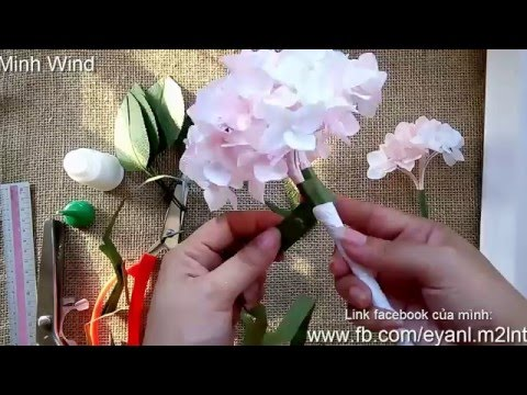 Hydrangea paper flower tutorial